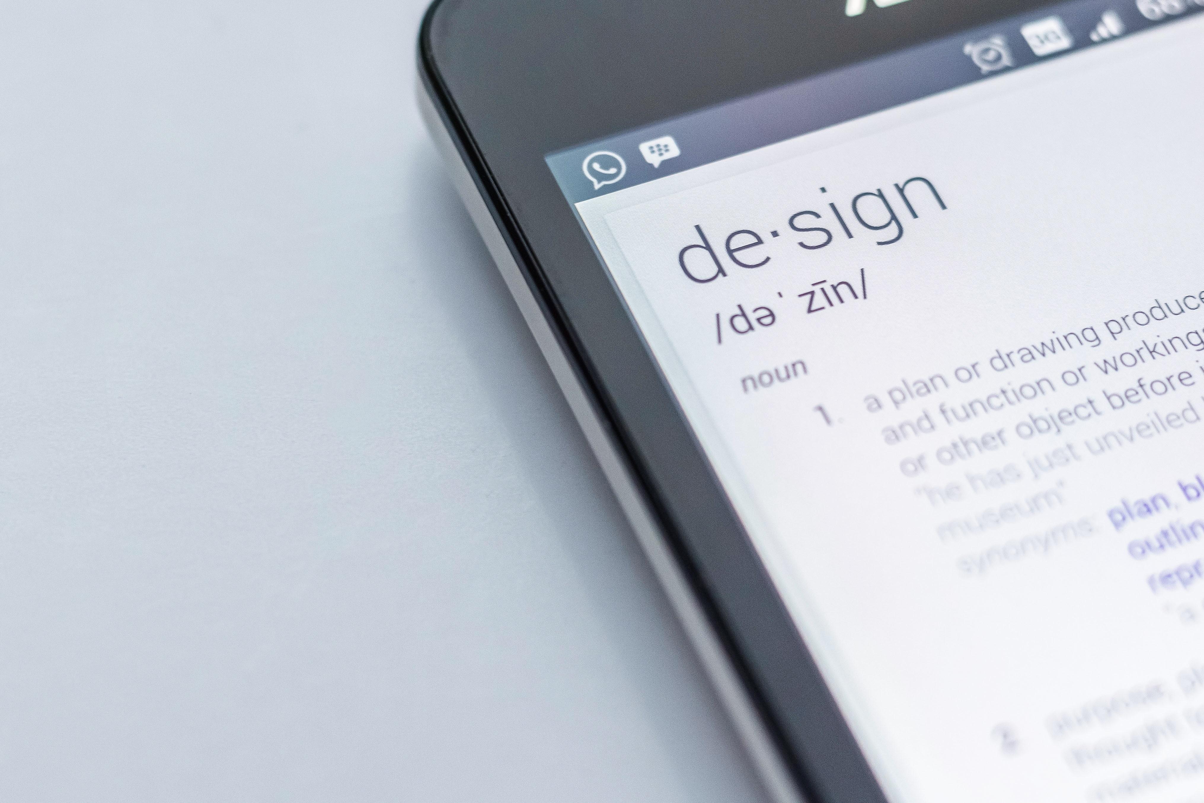Design definition on smartphone