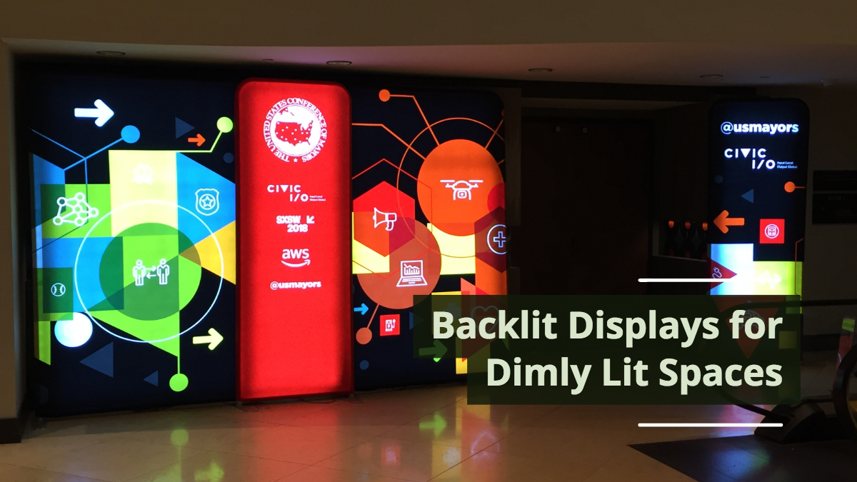 Backlit Displays for Dimly Lit Spaces
