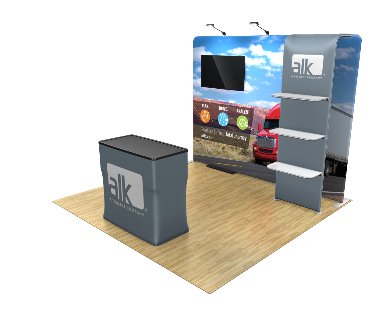 Waveline Media 10ft Trade Show Display Kit - 10.11