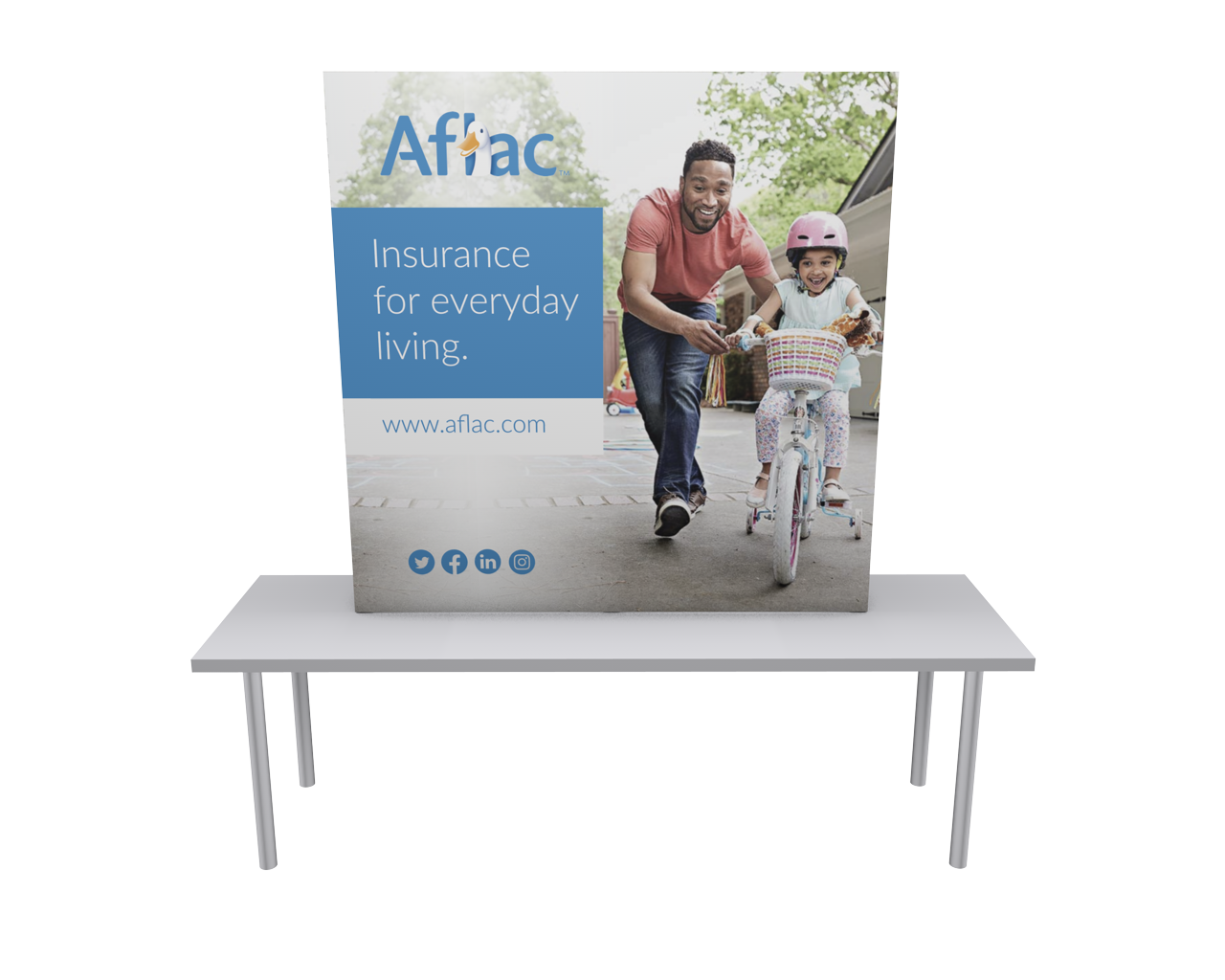 OneFabric 6ft Flat Tabletop Display