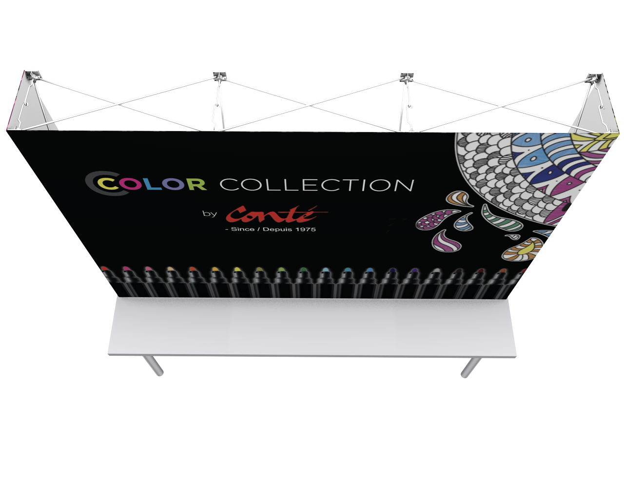 OneFabric 8ft Flat Tabletop Display