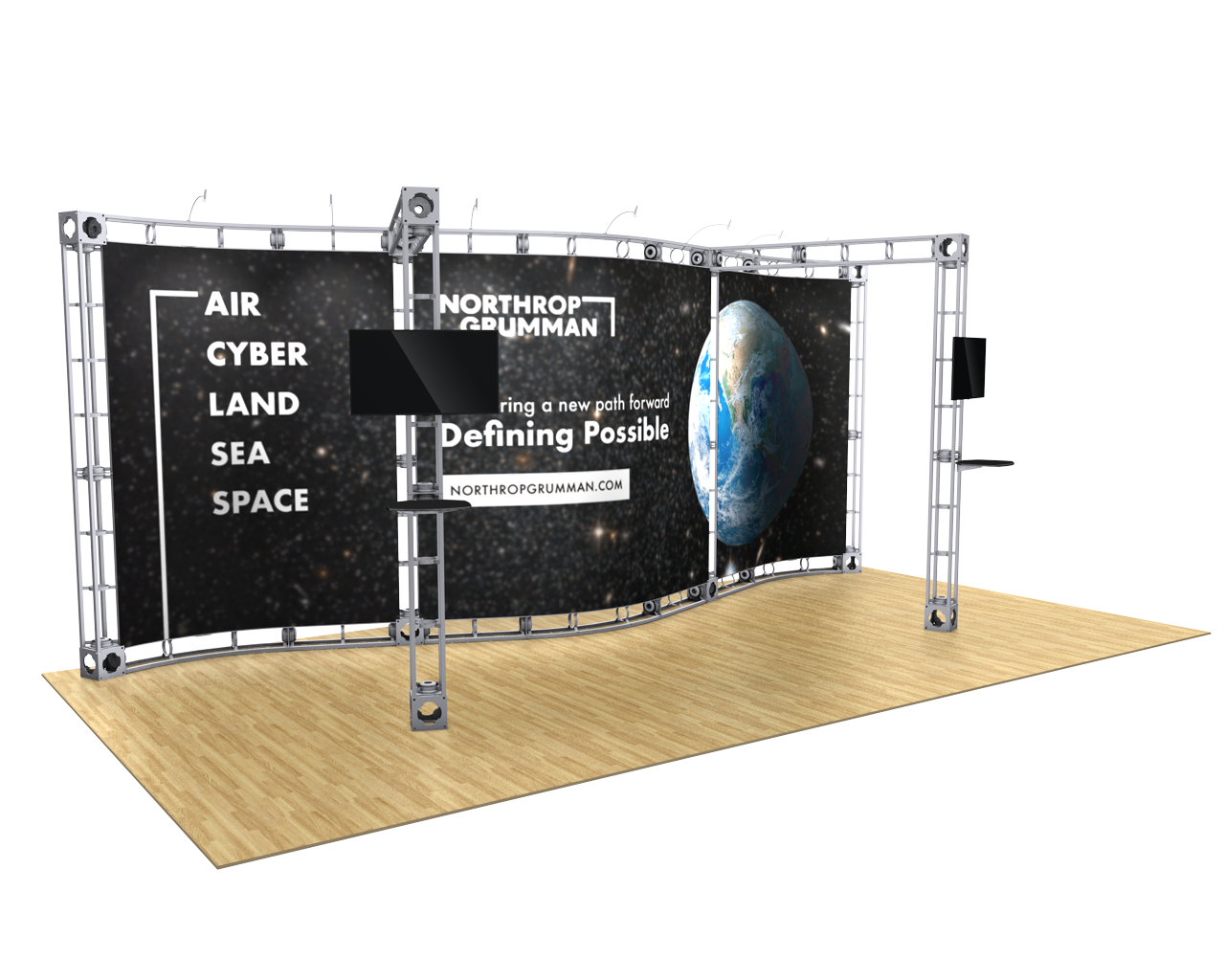 Callisto 10 x 20 Orbital Truss Display