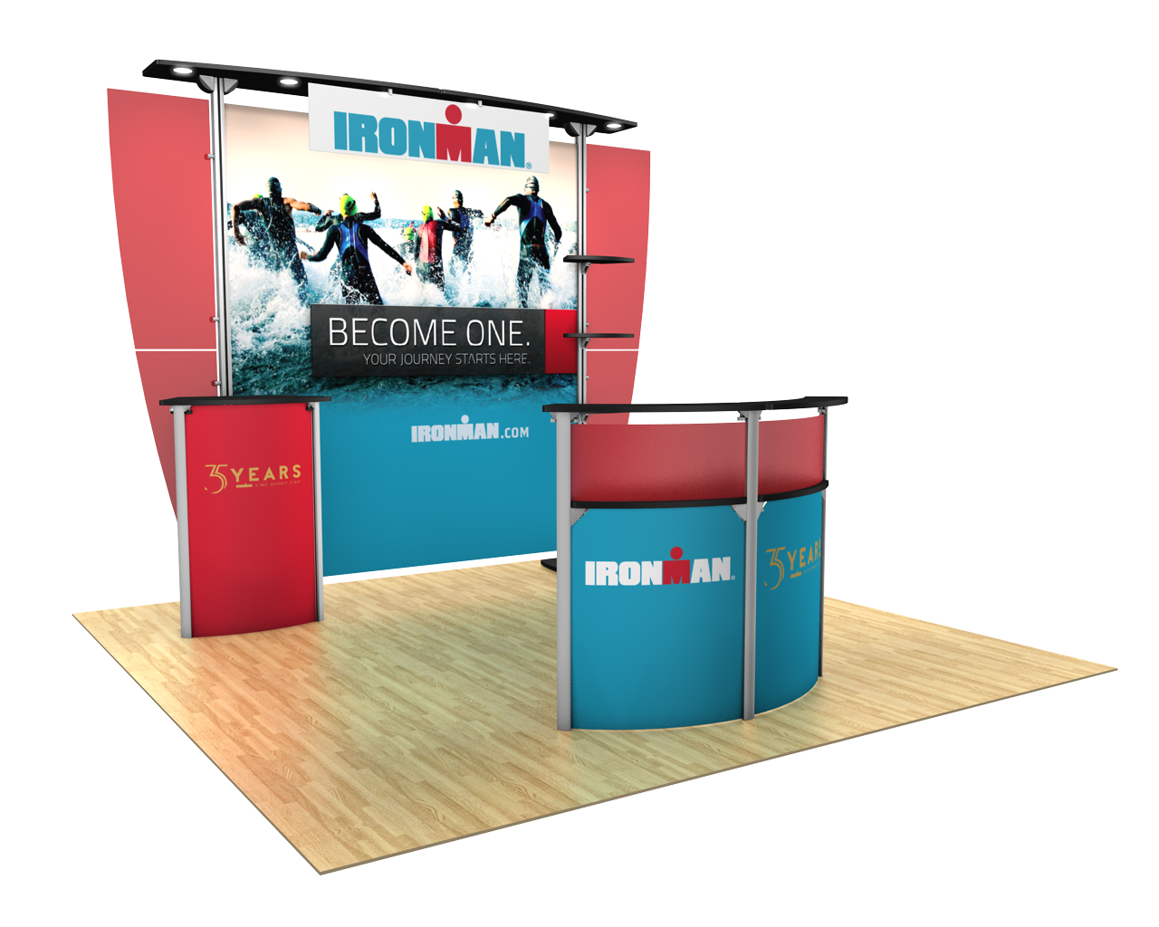 Exhibitline 10ft Trade Show Display Kit - 10.03