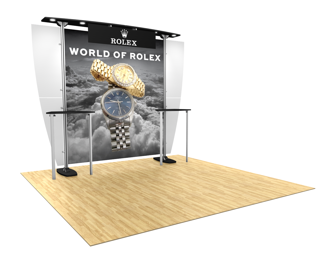 Exhibitline 10x10 Trade Show Display - ex1 Model
