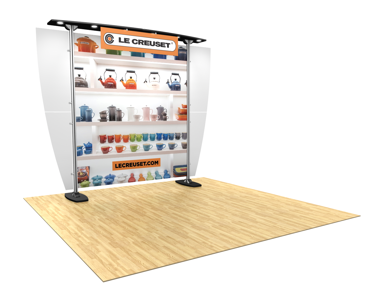 Exhibitline 10x10 Trade Show Display - ex1.0 Model