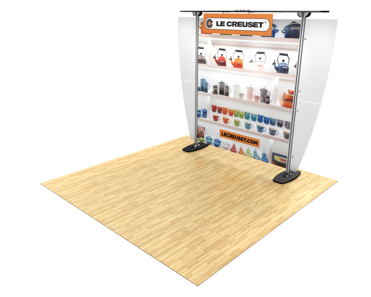 Exhibitline 10ft Trade Show Display - ex1.0 Model