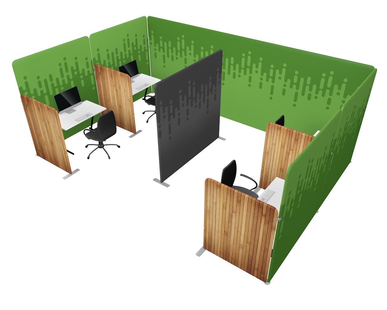 Workplace Divider Kit 4