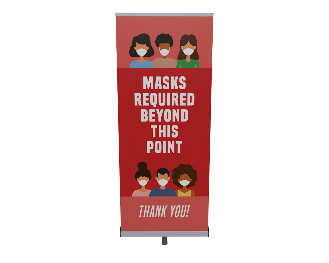 Penta Retractable Vinyl Banner Stand