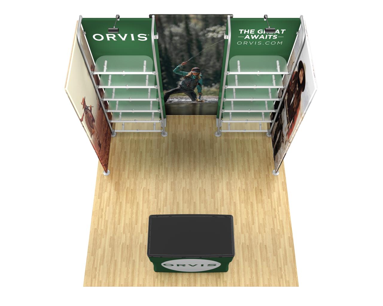 Waveline Merchandiser 10x10 Trade Show Display Kit - 10.16