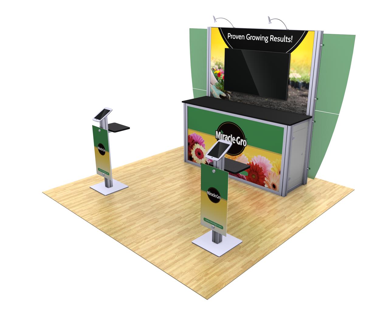 XVline Modular 10ft Trade Show Display Kit - 10.07