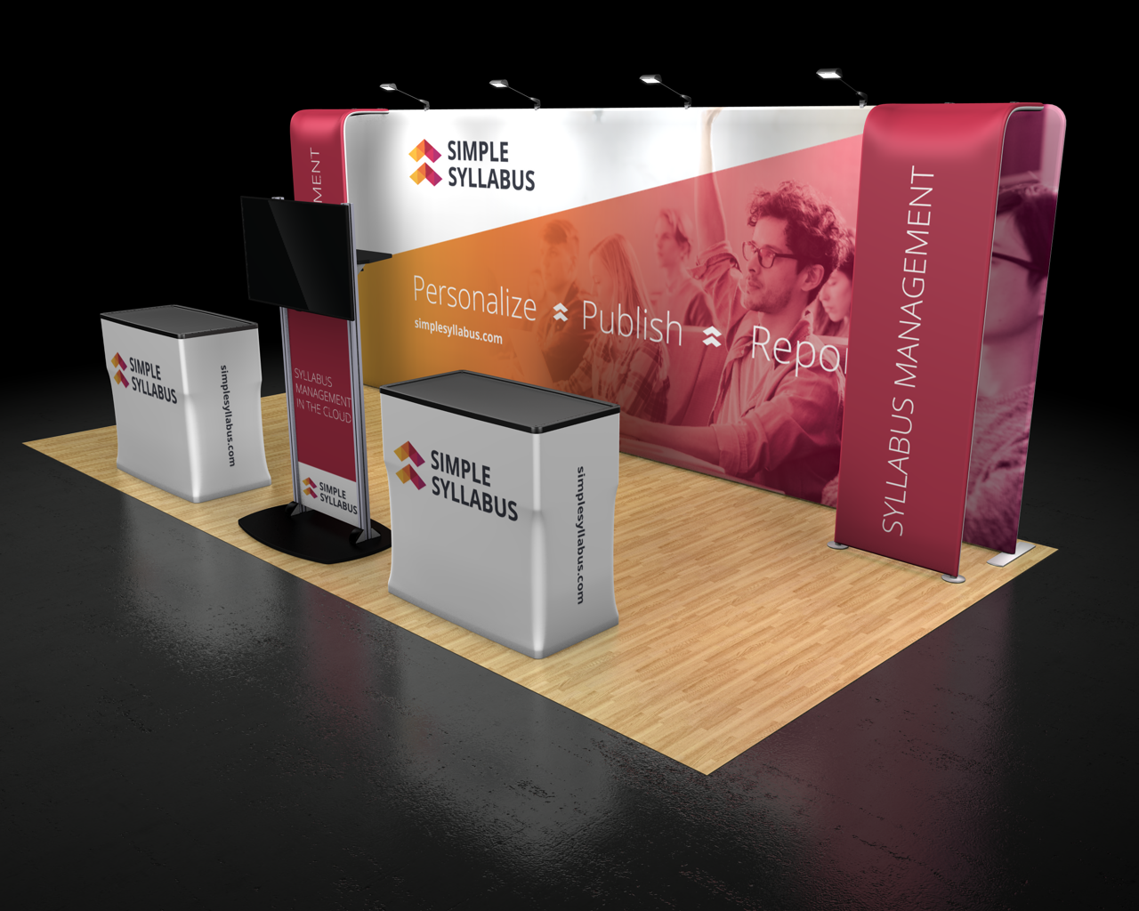 Waveline Media 20.06 Trade Show Display Rendering