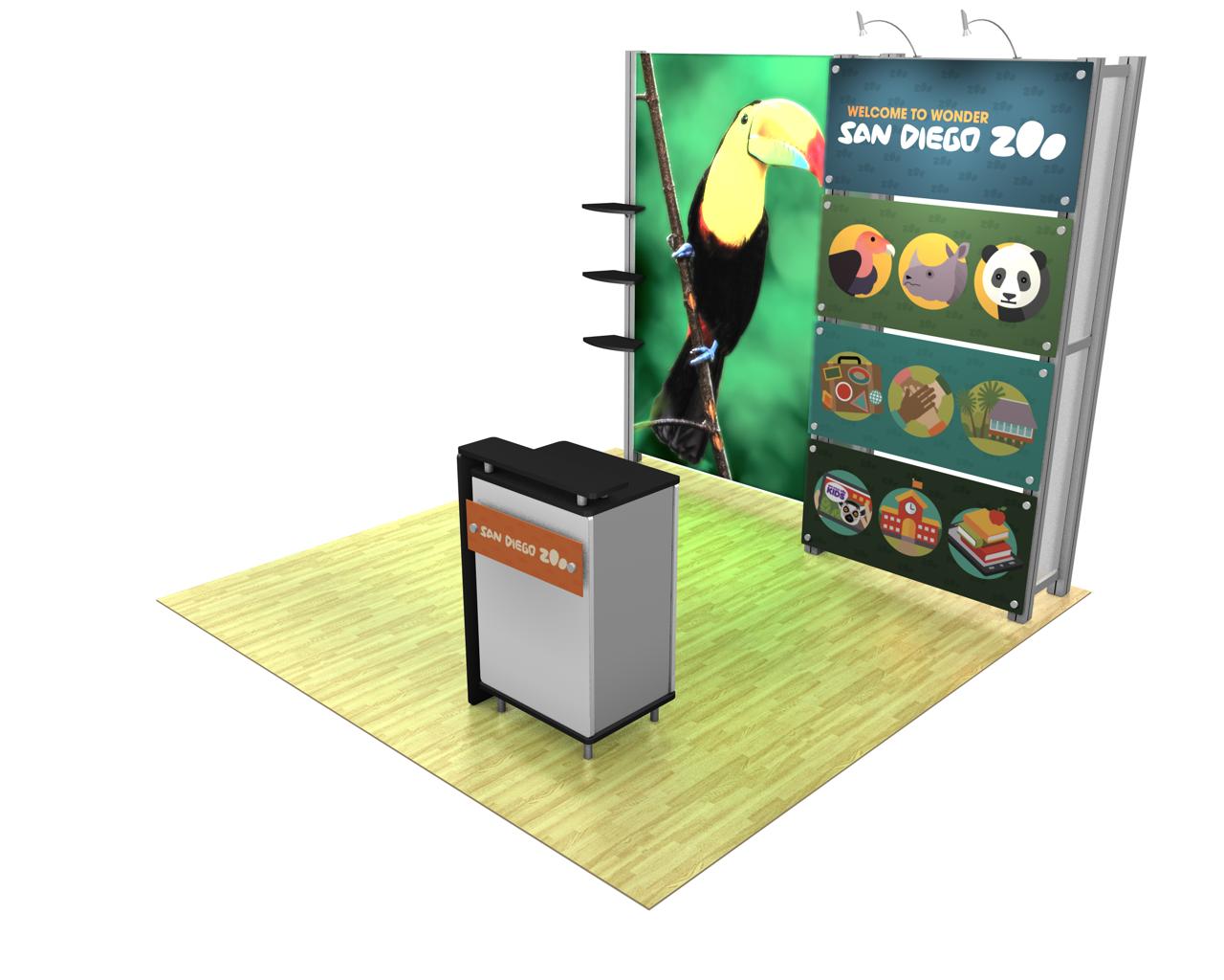 XVline Modular Backlit 10ft Trade Show Display Kit - 10.09