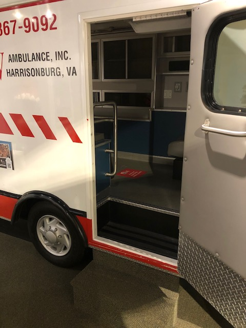 Red Decal In Ambulance