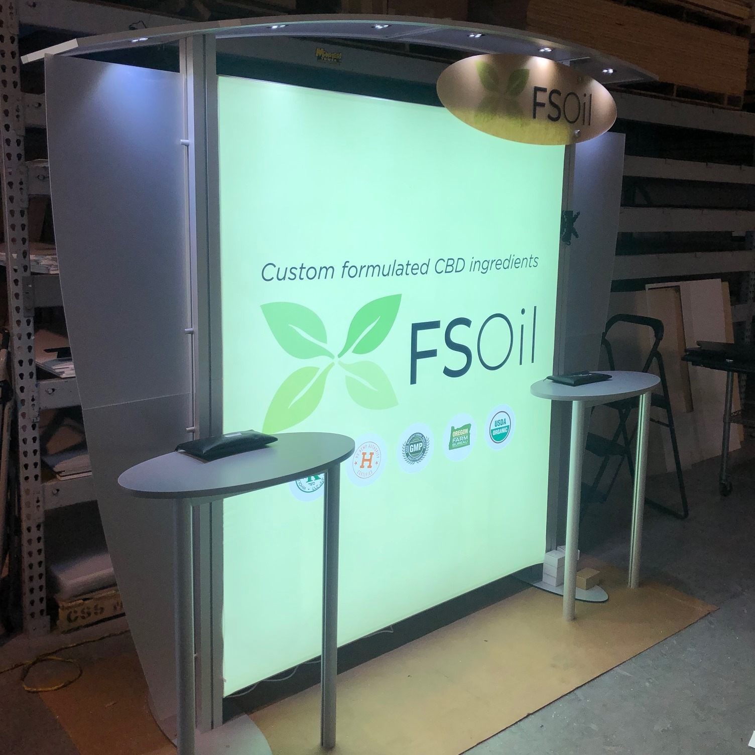 10ft XVline Display with Backlit Graphic Upgrade