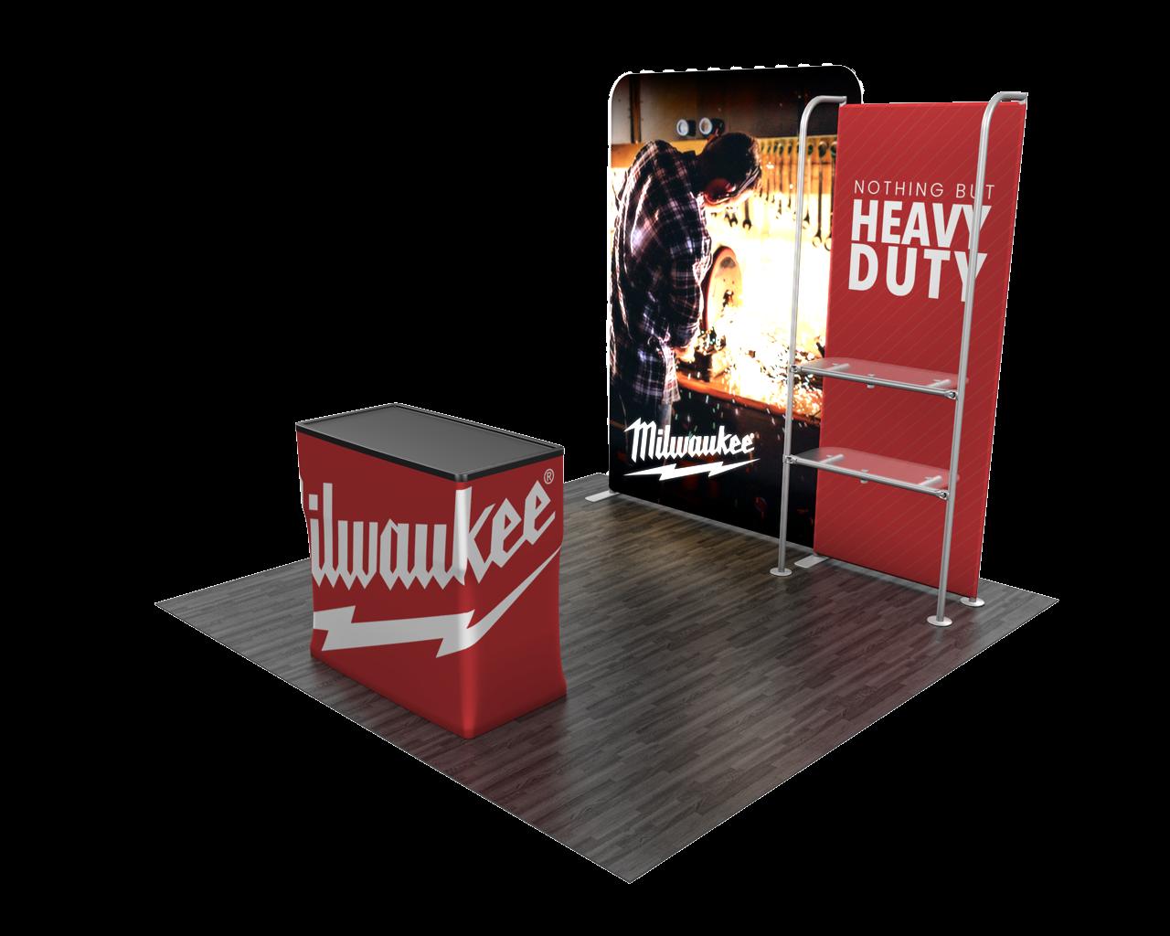 Backlit display and a standard merchandiser