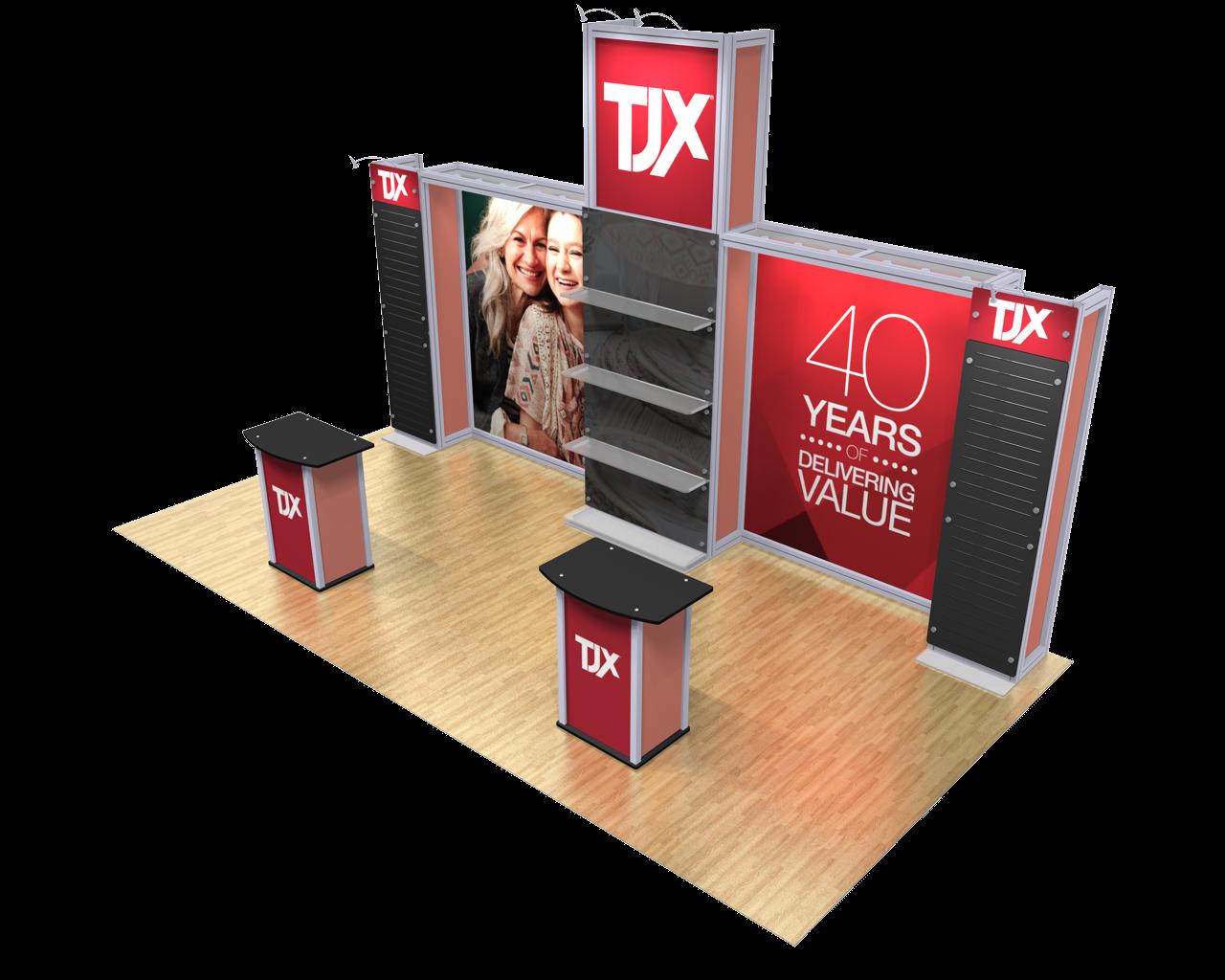 XVline Modular Kit 20.07 10x20 display Side View