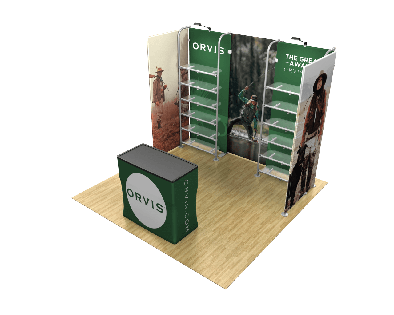Waveline Merchandiser 10ft Trade Show Display Kit - 10.16