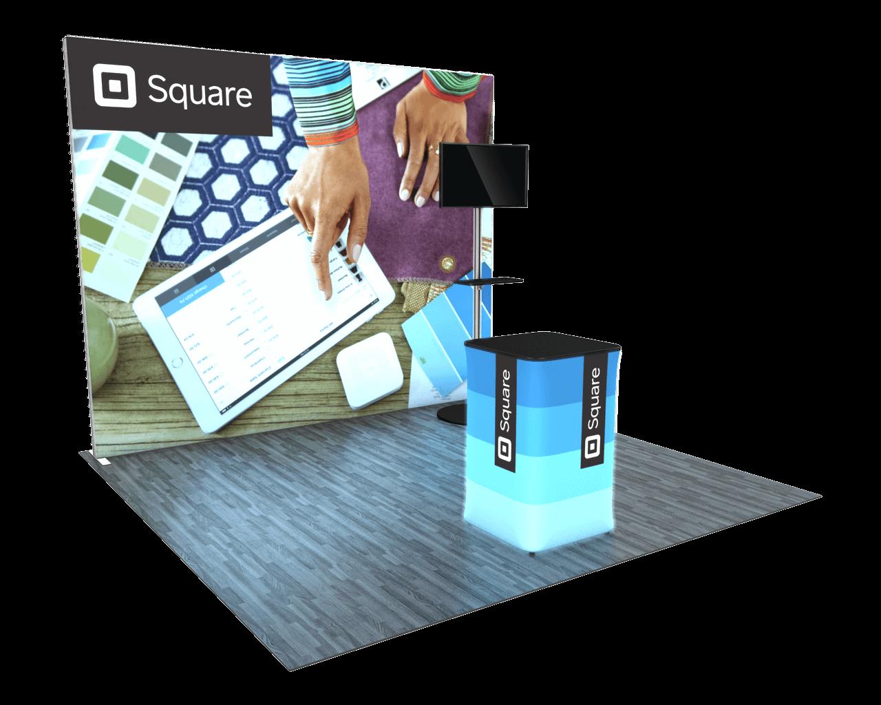 Infinity Pro Backlit 10ft Trade Show Display Kit - 10.06