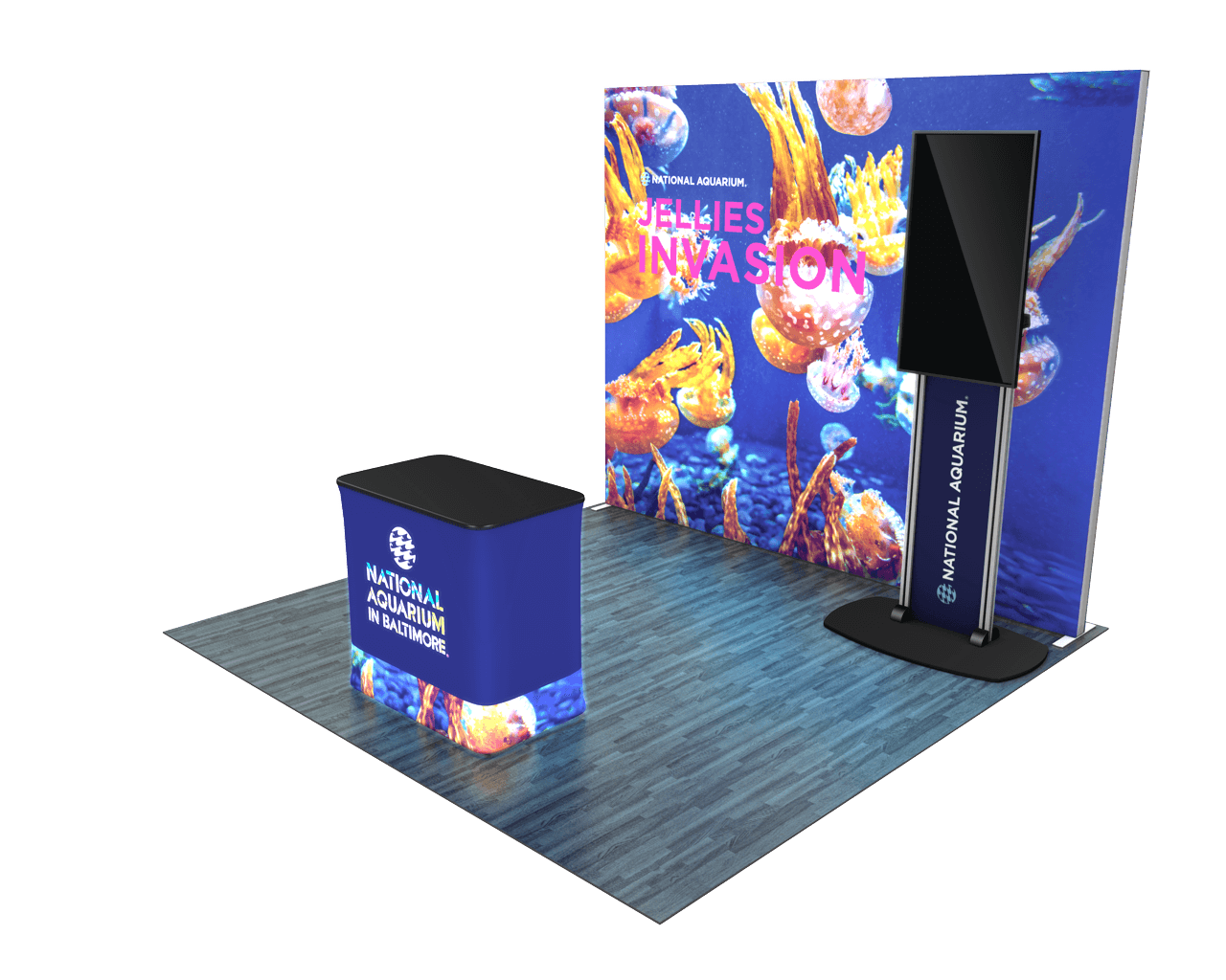 Infinity Pro Backlit 10ft Trade Show Display Kit - 10.05