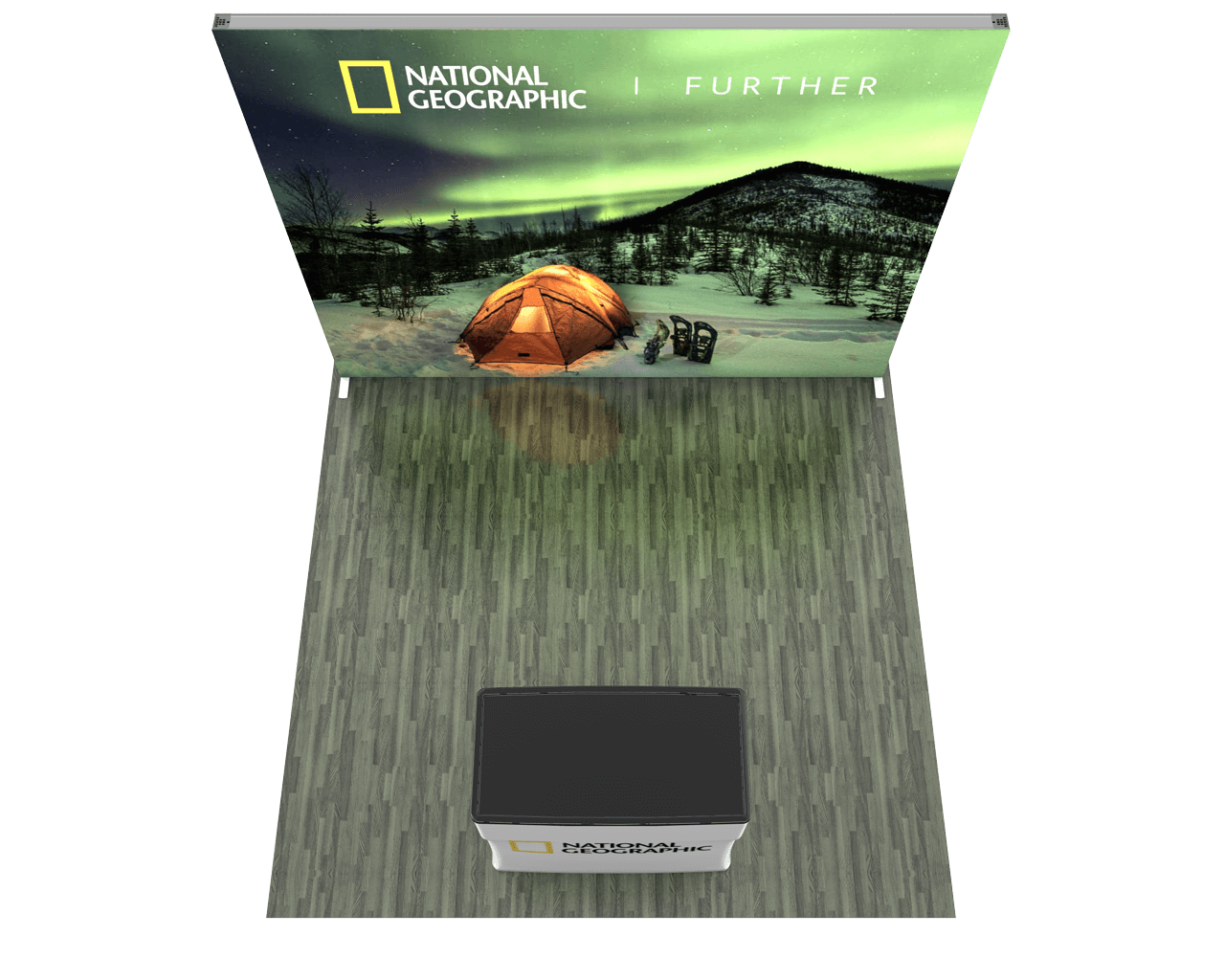 Infinity Pro Backlit 10ft Trade Show Display Kit - 10.01
