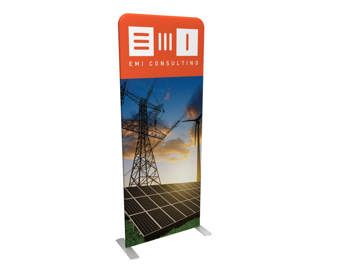 """Waveline 36"""" Double-Sided Banner Graphic"""