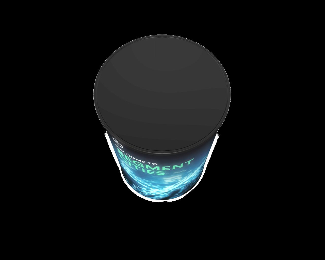 Wavelight Air Backlit Inflatable Counter - Circular