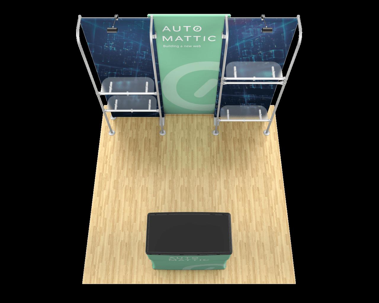 Waveline Merchandiser 10ft Trade Show Display Kit - 10.12