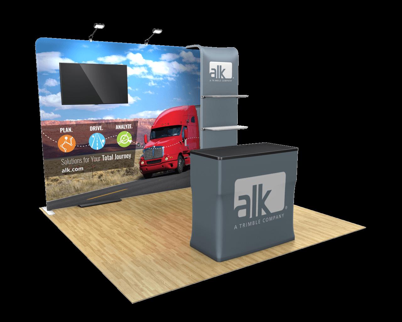 Waveline Media 10ft Trade Show Display Kit - 10.11