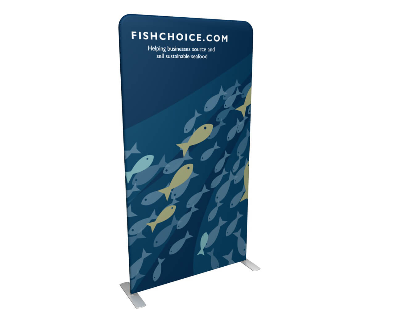 """Waveline 48"""" Double-Sided Banner Graphic"""