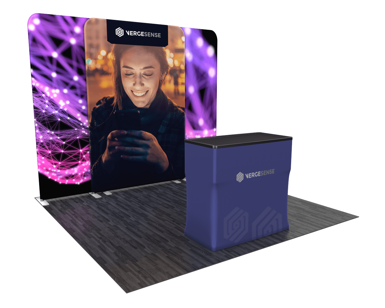 Wavelight Backlit 10ft Trade Show Display Kit - 10.03