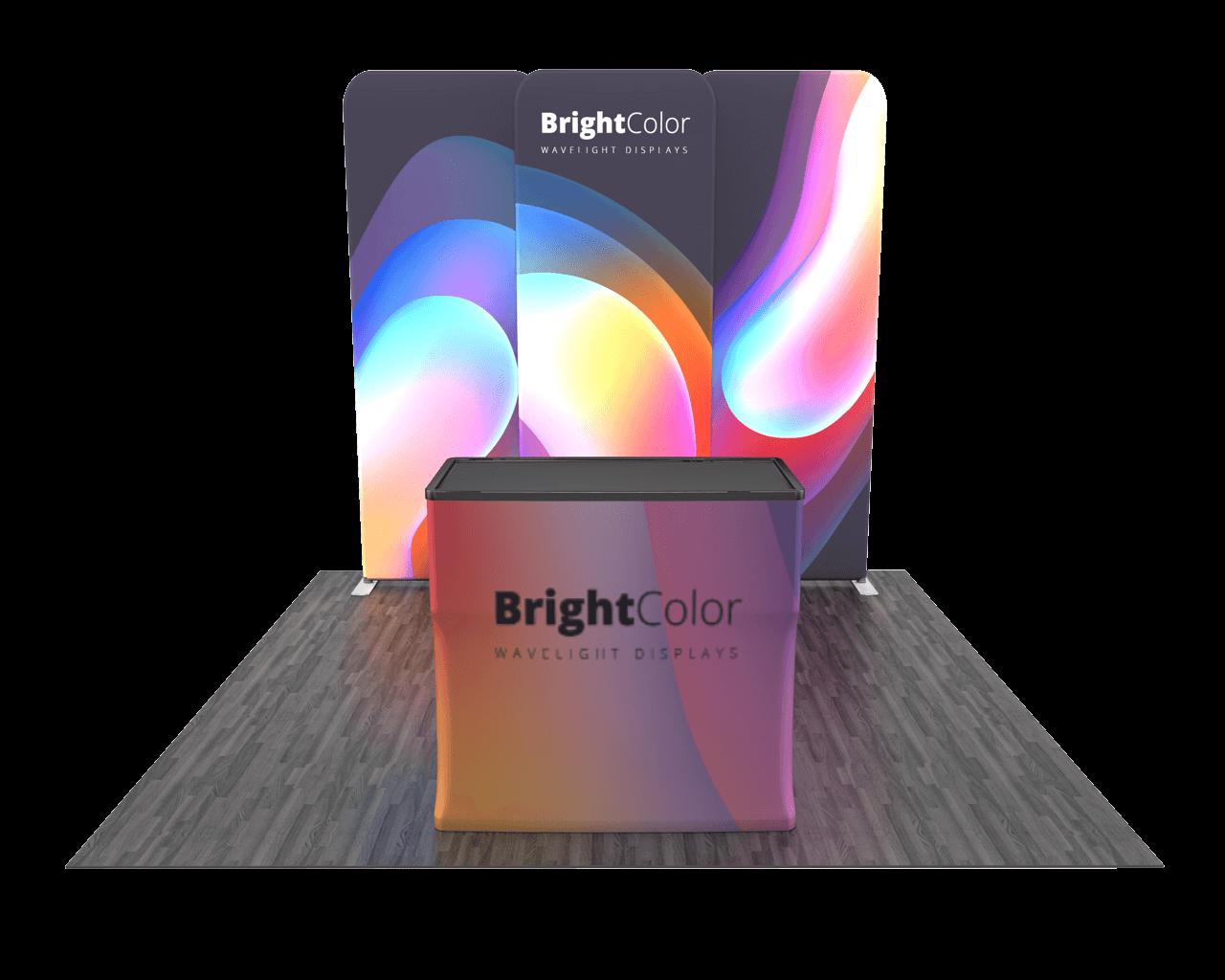 Wavelight Backlit 10ft Trade Show Display Kit - 10.02