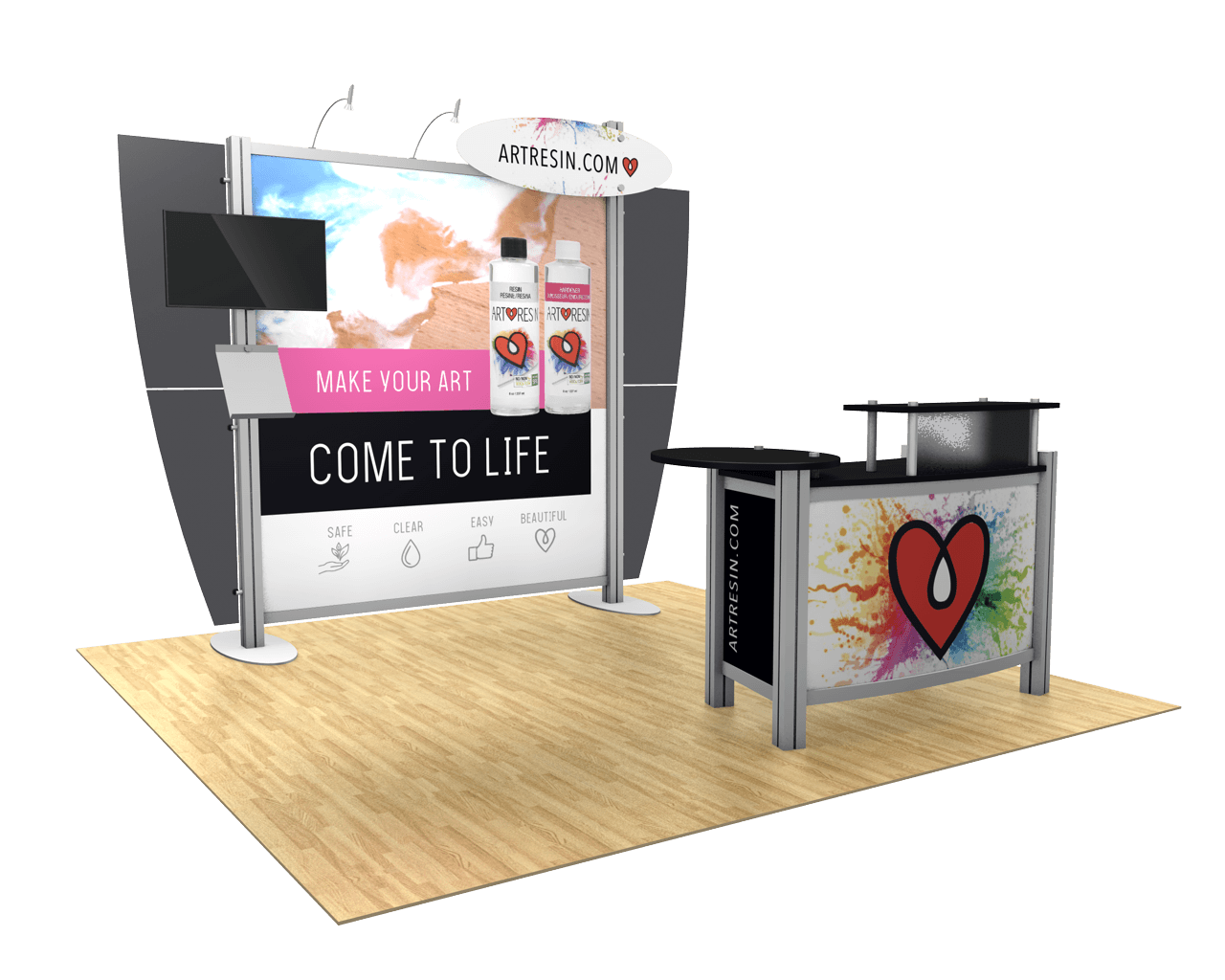 XVline Modular 10ft Trade Show Display Kit - 10.01