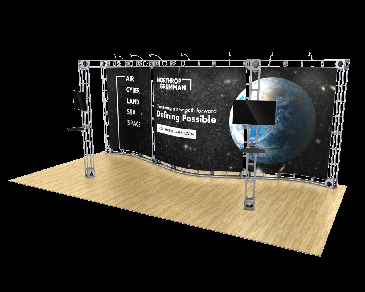 Callisto 10 x 20 Orbital Truss Display