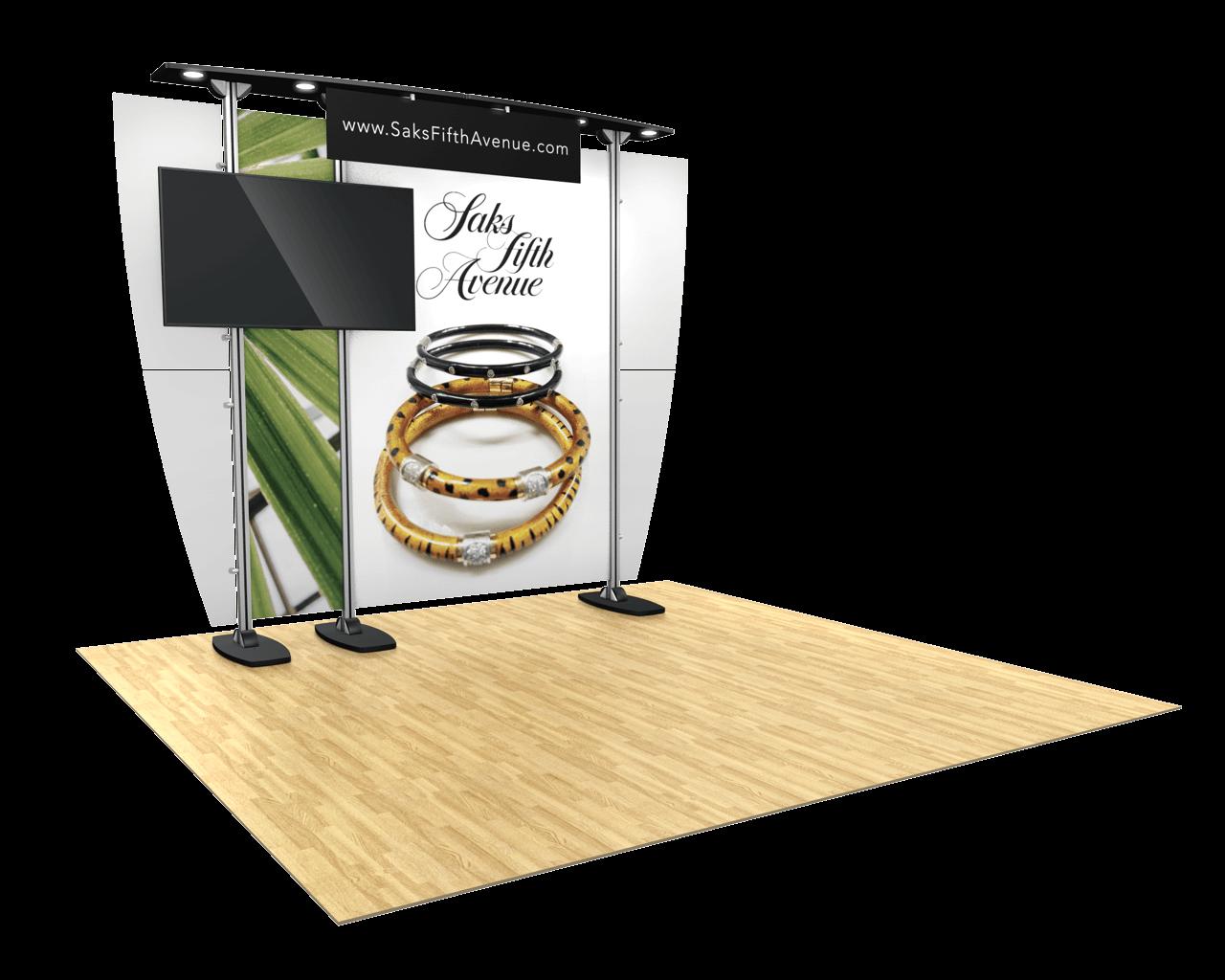Exhibitline 10ft Trade Show Display - ex1.LP.0 Model