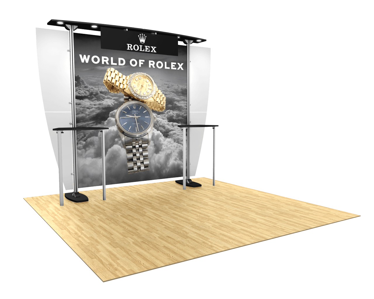 Exhibitline 10ft Trade Show Display - ex1 Model