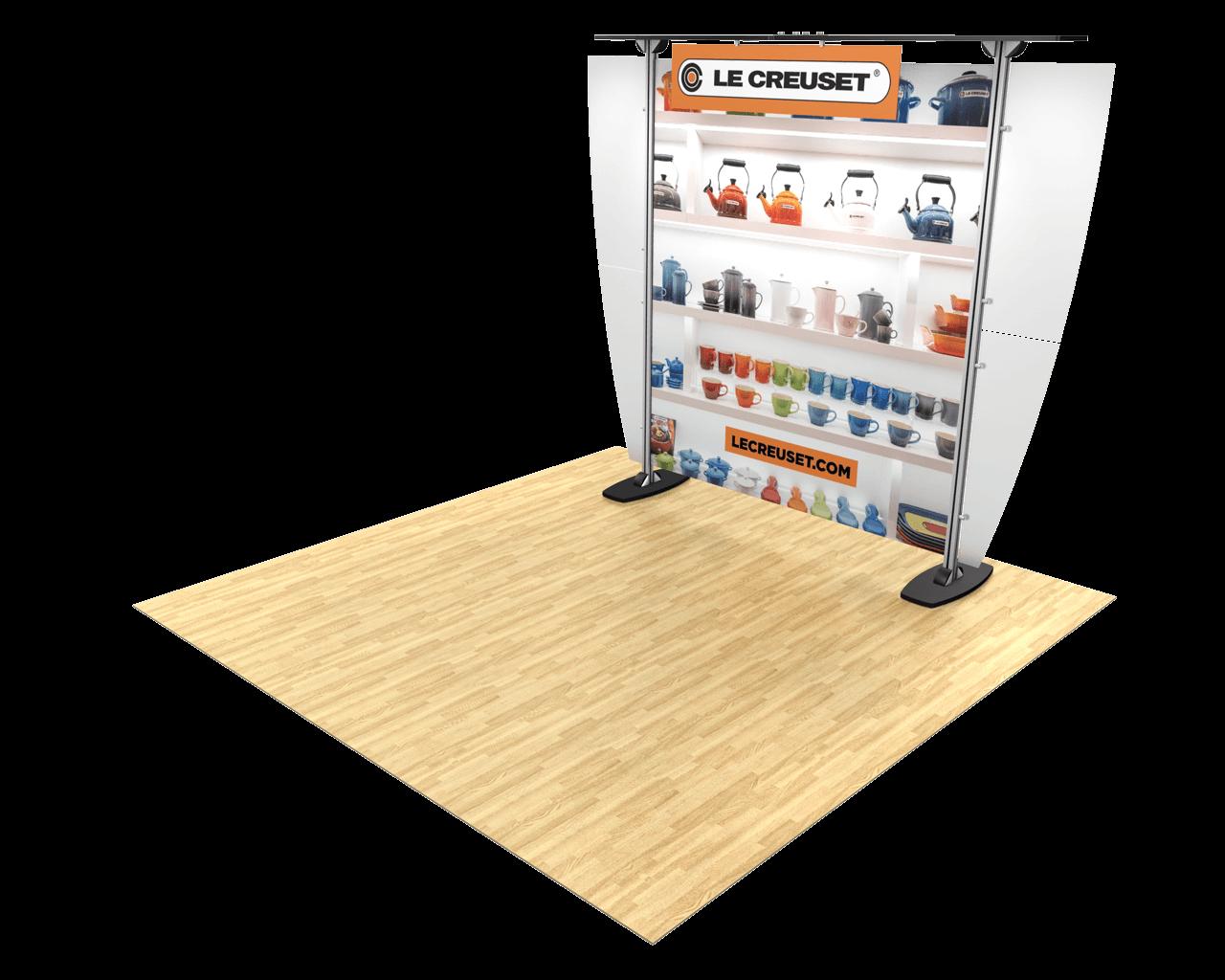 Exhibitline 10ft Trade Show Display - ex1.0 Model