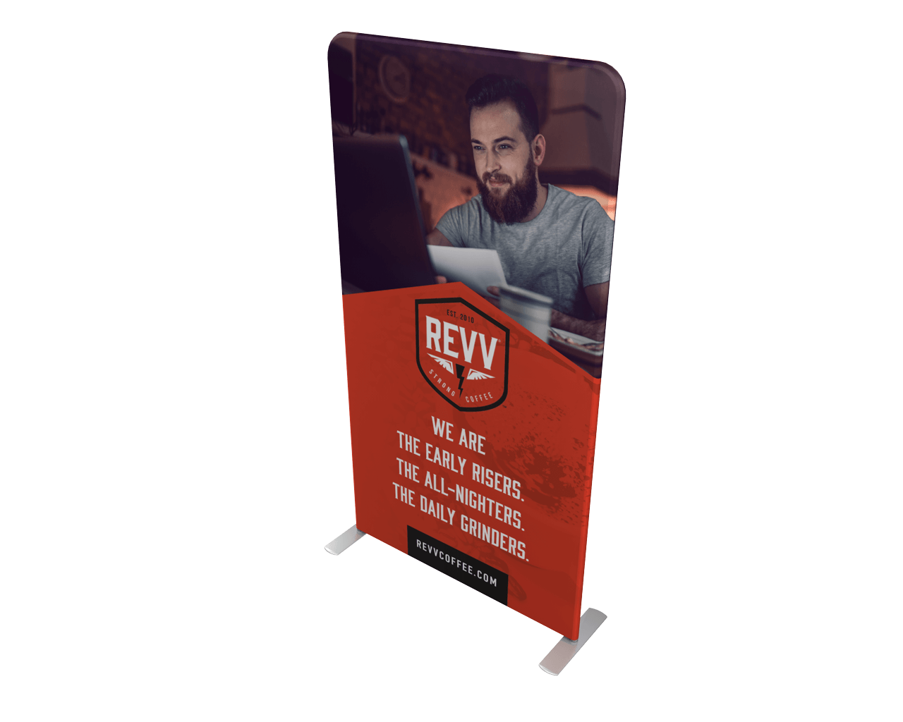 """Waveline 48"""" Double-Sided Banner Stand"""