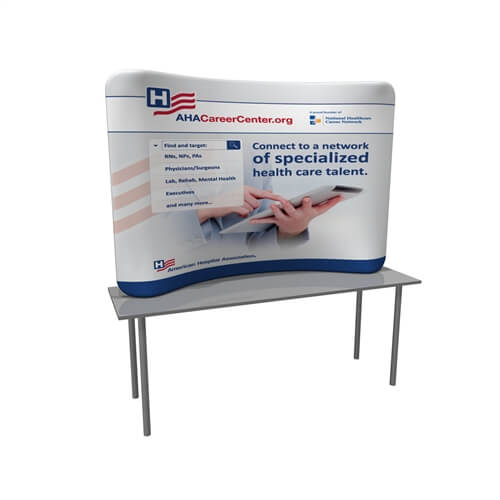Waveline 8ft Tabletop Curved Graphic