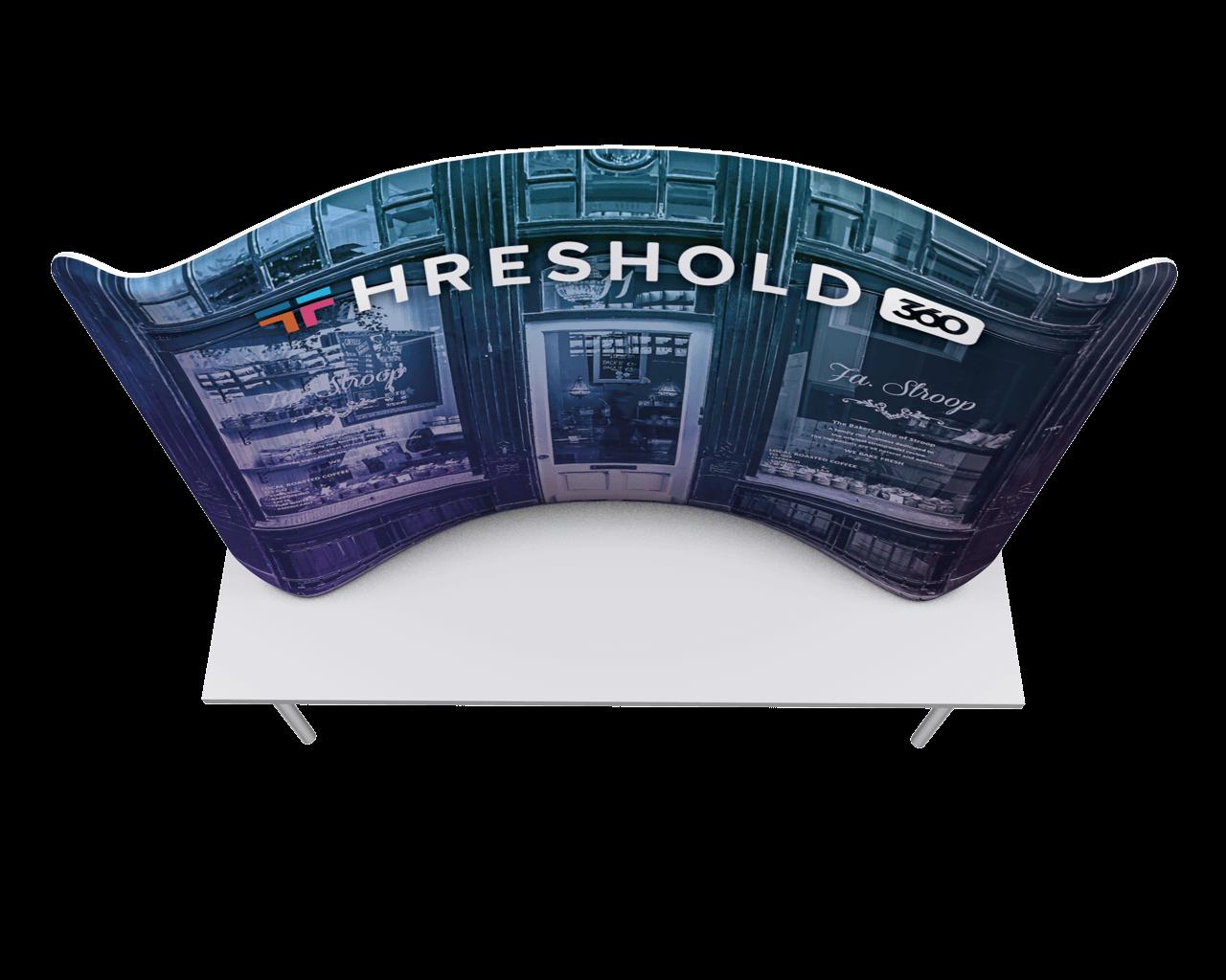 Waveline 8ft Tabletop Display