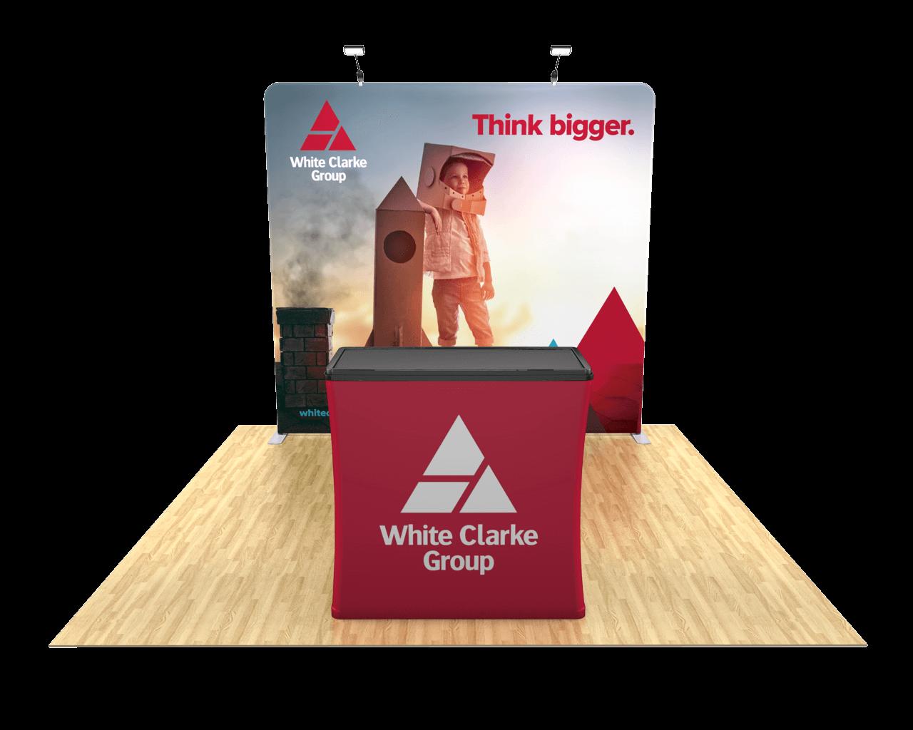 Waveline Flat 8ft Trade Show Display Kit