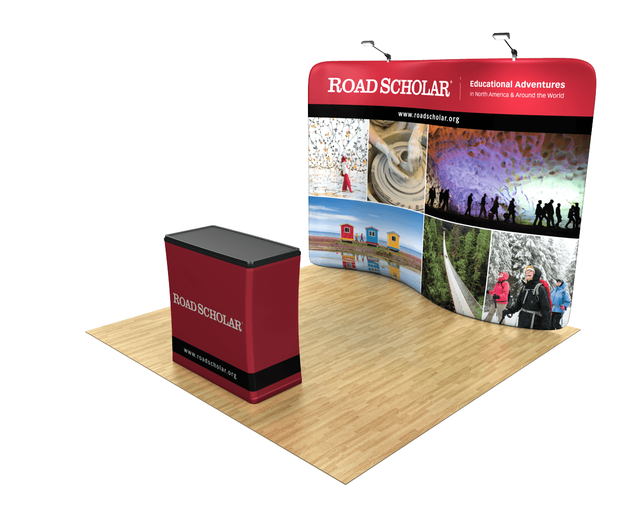 Waveline Serpentine 10ft Trade Show Display Kit