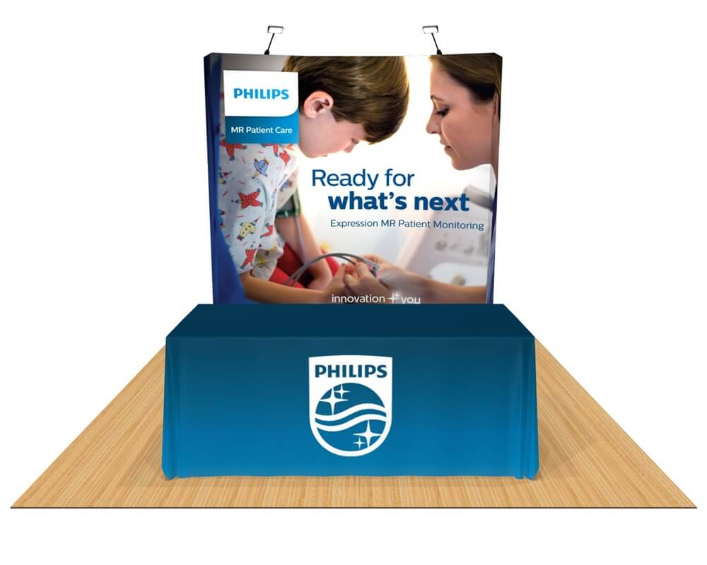 OneFabric Curved 8ft Trade Show Display - Deluxe Kit