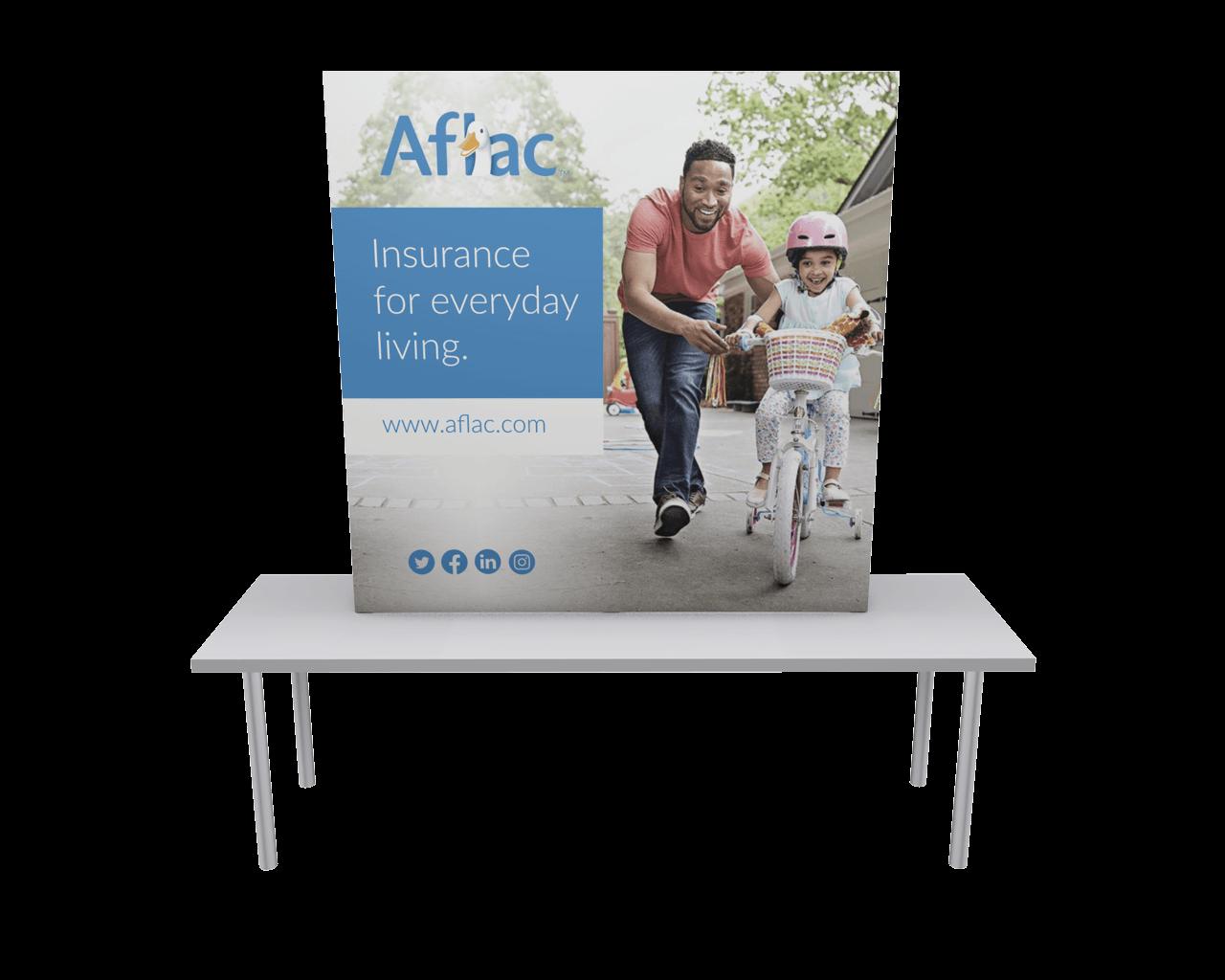 OneFabric 6ft Flat Tabletop Display