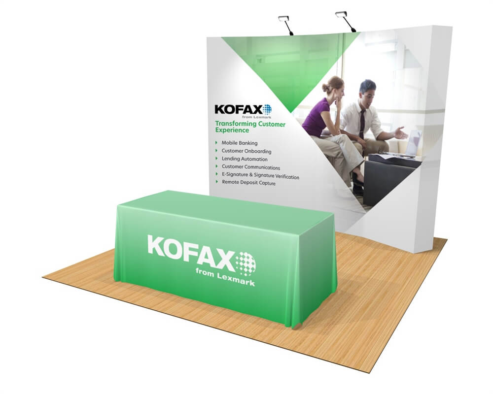 OneFabric Curved 10ft Trade Show Display - Deluxe Kit