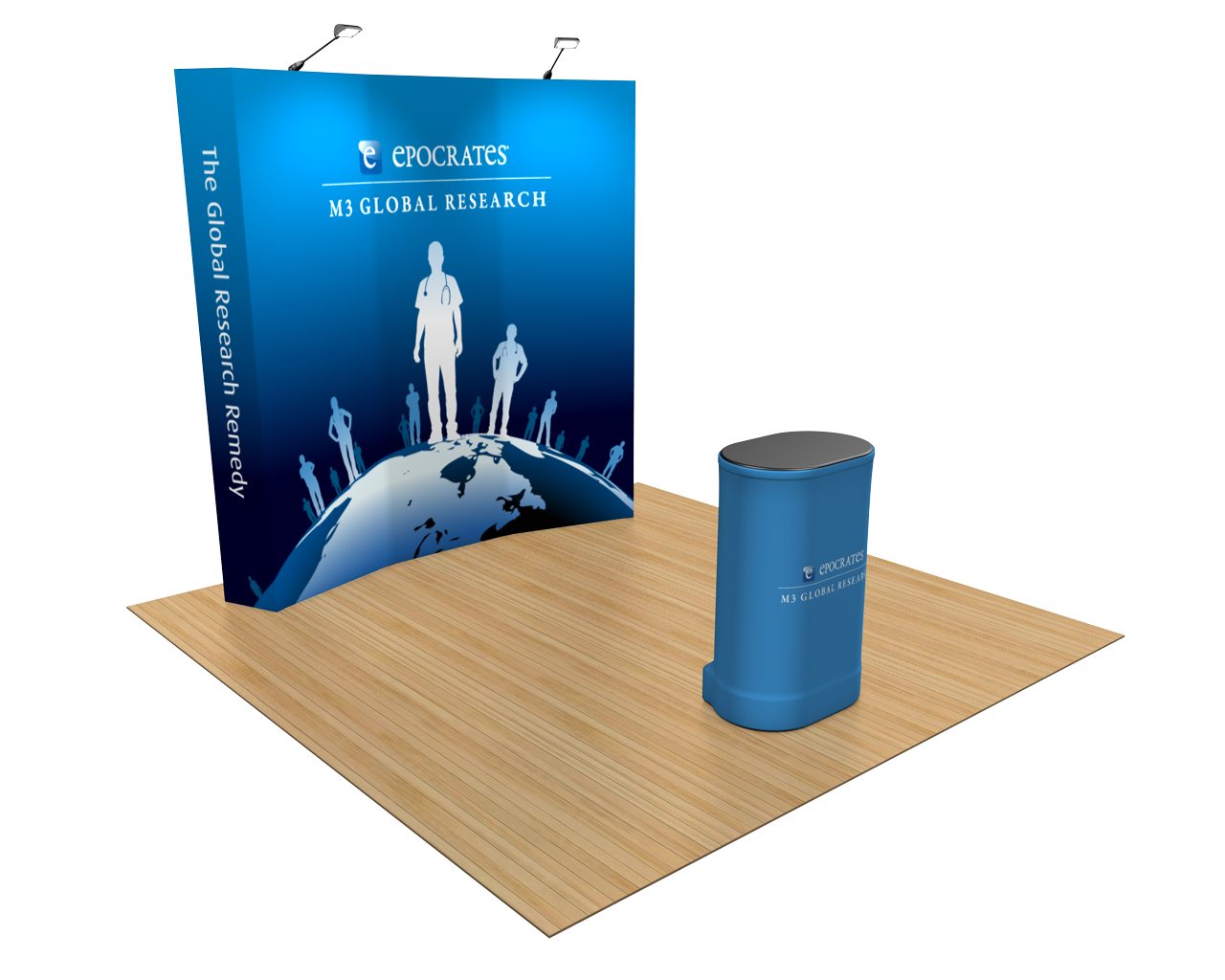OneFabric Curved 8ft Trade Show Display Kit