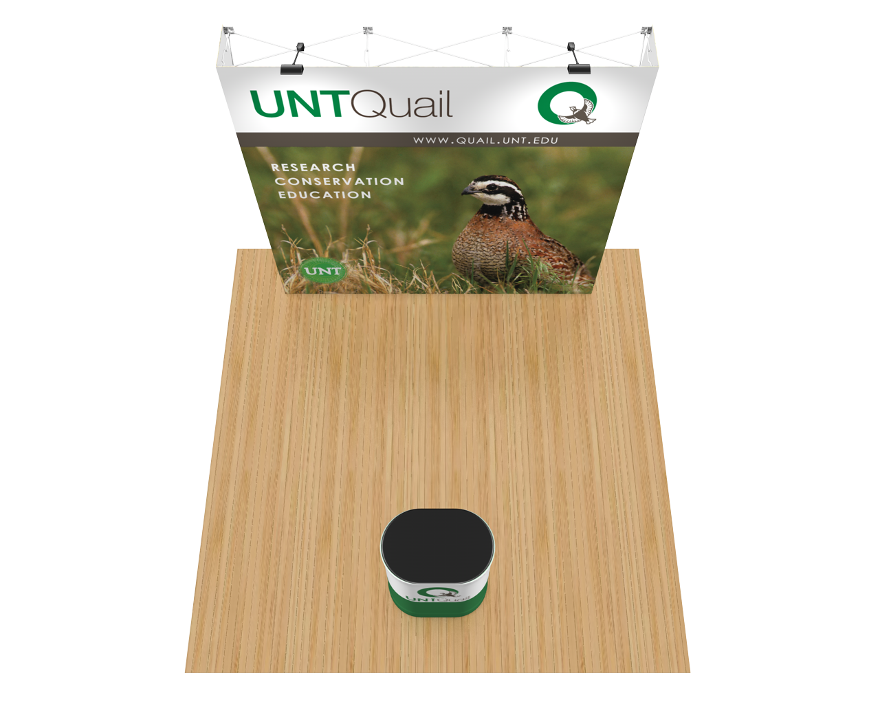 OneFabric Flat 8ft Trade Show Display Kit
