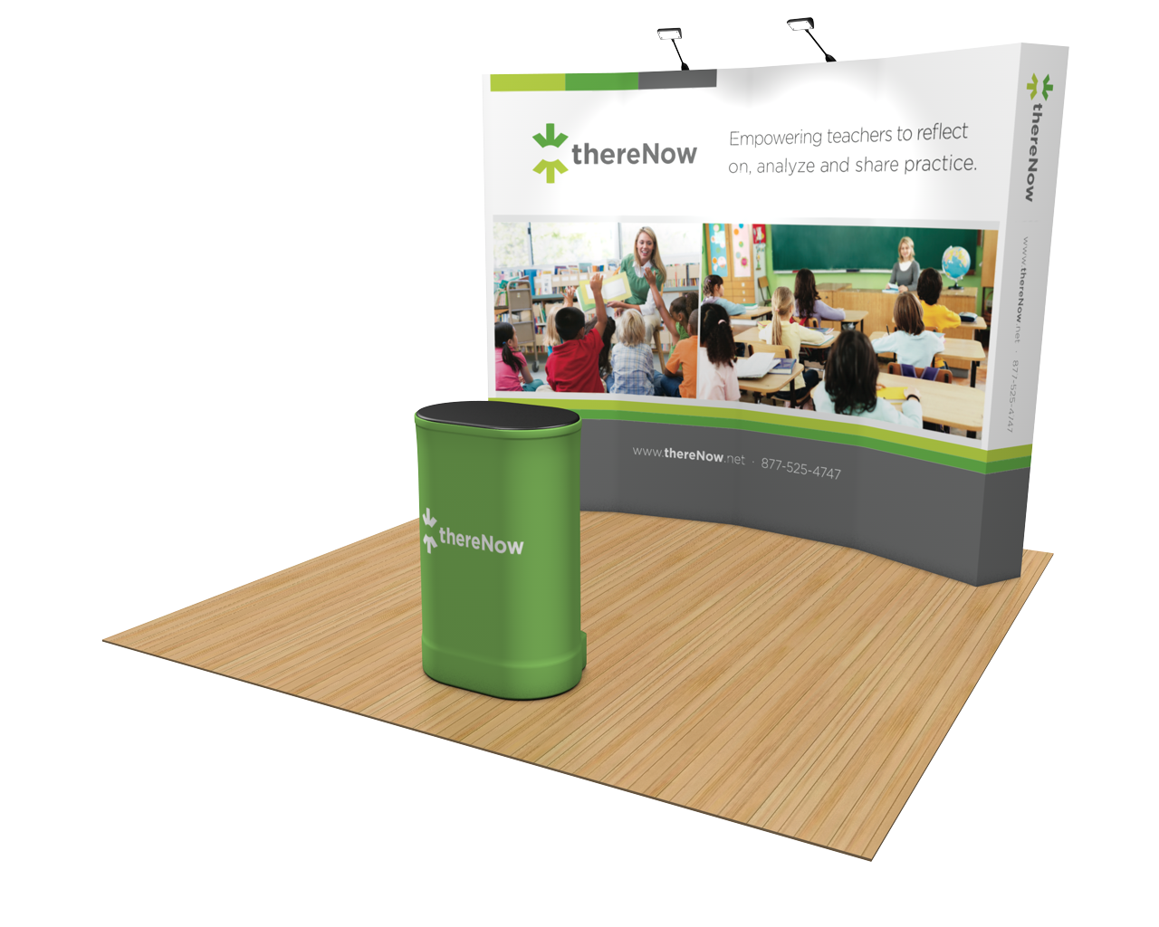 OneFabric Curved 10ft Trade Show Display Kit