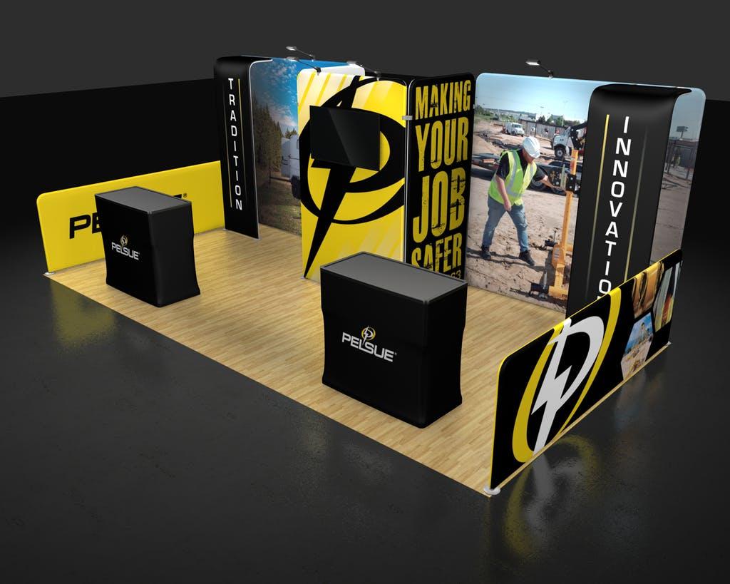 10x20 Trade Show Exhibit  Waveline Media Kit 20.04 Rendering Right