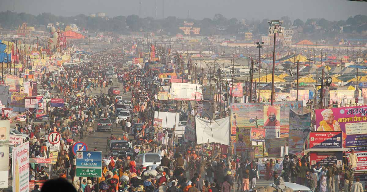 A view of Allahabad, India. Allahabad is a growing, midsize city in a medium income country. Cities like this will experience dramatic population growth between now and 2030. Photo by Seba Della y Sole Bossio via Flickr, licensed under (CC BY-NC-ND 2.0).