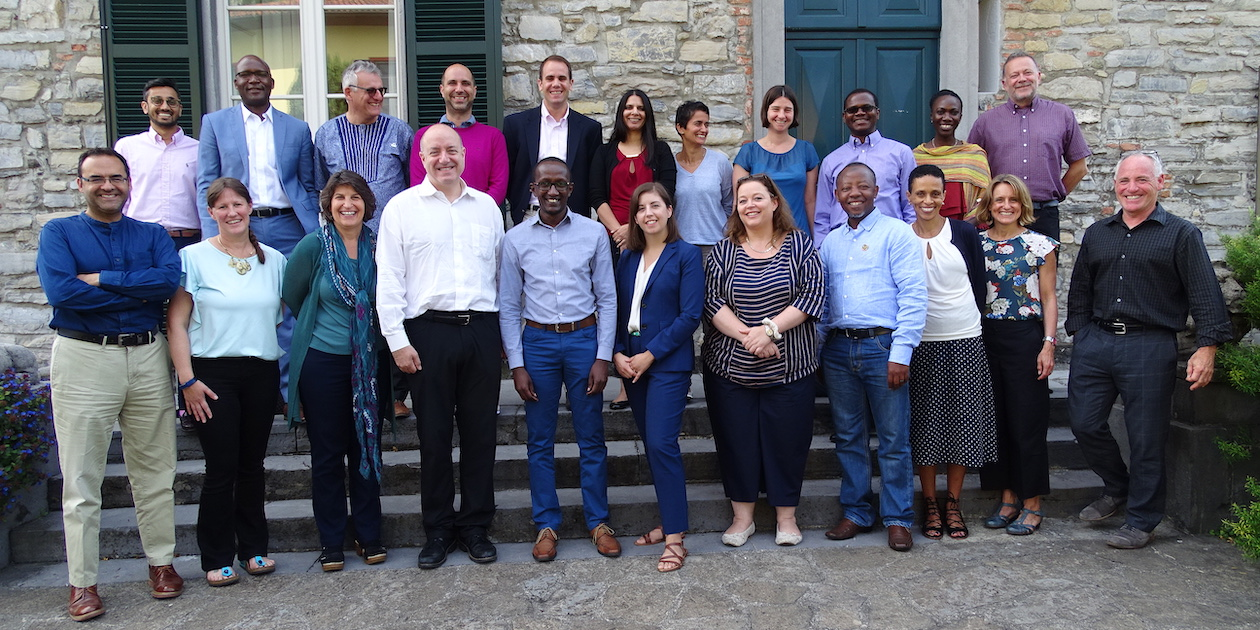 Dr. Bradley C. Parks, AidData's Executive Director (fourth from left, second row), with participants in the Hewlett Foundation's Evidence-Informed Policymaking Charette at the Rockefeller Foundation Bellagio Center in Bellagio, Italy on September 1, 2018.